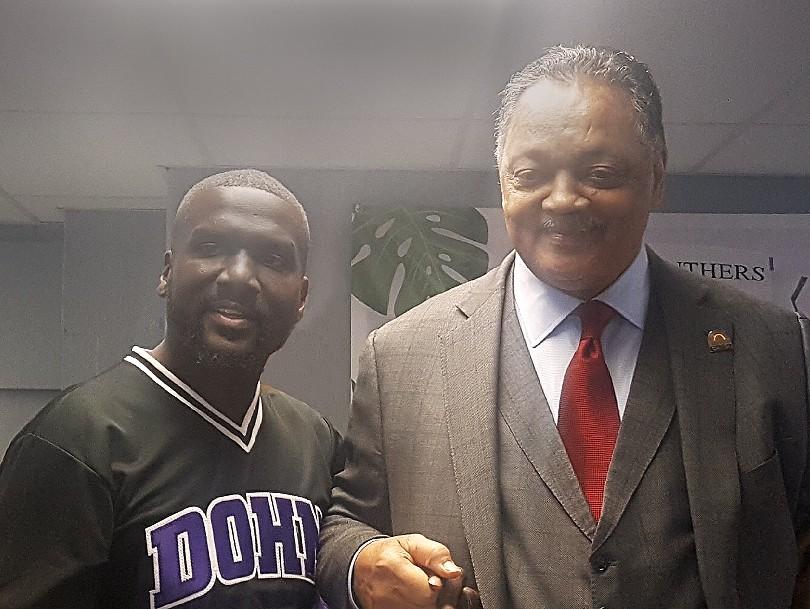 Reverend Jesse Jackson Visits Dohn